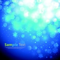 蓝色光效背景矢量图素材