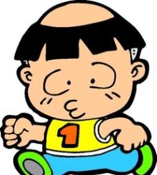 漫画儿童 卡通人物 矢量 AI_0038