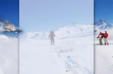 淘宝雪场背景图片素材