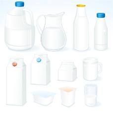 盛牛奶容器设计矢量素材