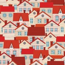屋顶房屋背景矢量素材