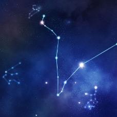 炫酷星空星座背景
