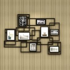 现代照片墙3D模型