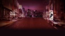 淘宝城市夜景背景图片素材