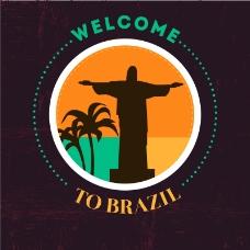 巴西欢迎海报矢量素材