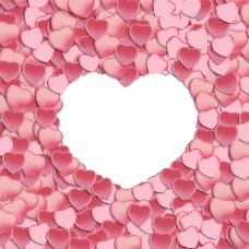 粉色纸片爱心背景矢量素材