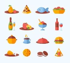 美味食物图标矢量素材