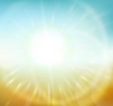 明亮放射光线背景矢量素材