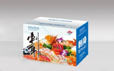 生鱼片刺身包装盒设计模板psd素材