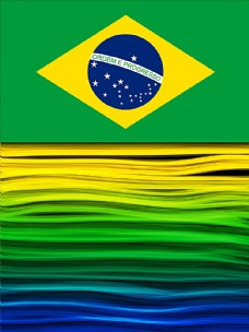 巴西国旗背景