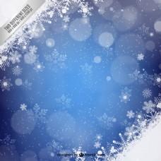 雪花蓝色背景