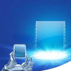 蓝色电子商品聚划算直通车主图图片
