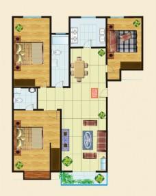 家居装饰室内设计平面效果图