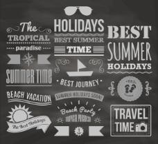 夏日假期英文