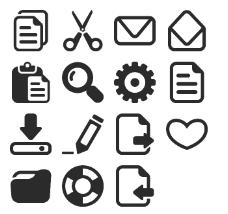 简笔素描电脑图标下载