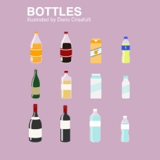 卡通瓶子设计