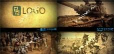复古色彩的战争老电影AE模板