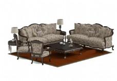 沙发茶几组合素材模板下载