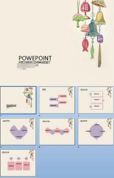 卡通铃铛PPT模板