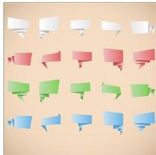 折纸矢量标签图片