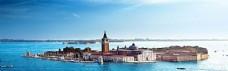 威尼斯现代建筑淘宝海报背景
