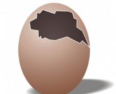 破碎鸡蛋图片