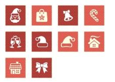 圣诞节元素图标下载
