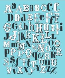 复古英文字母