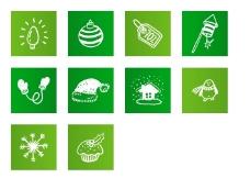 绿色圣诞节图标下载