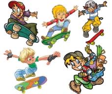 滑板儿童人物