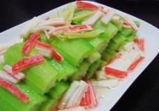 丝瓜炒蟹柳图片