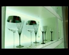 酒吧橱柜杯具视频素材