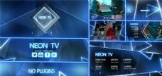 霓虹灯电视栏目包装动画AE模板