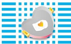 爱心鸡蛋图片