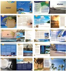 旅游画册矢量素材