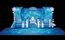 冰雪奇缘迎宾区舞台造型