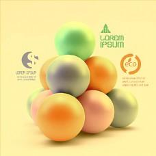 立体球形背景图片