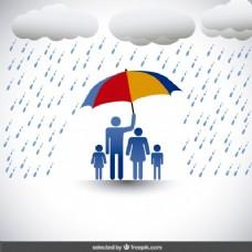 家庭的保护伞下