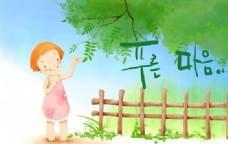 快乐女孩 卡通漫画 韩式风格 分层 PSD_0185