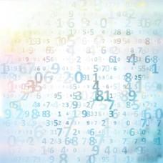 數字藍色背景素材圖