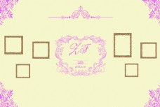 香槟粉色婚礼背景
