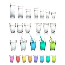 各种颜色的果汁
