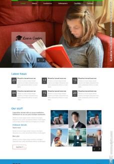 读书的少女网站模板图片