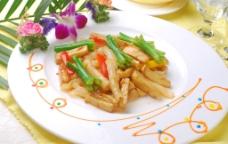 XO酱菌菇炒花胶条图片
