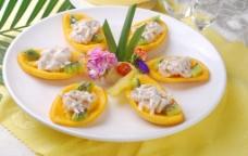 沙律带子芒果图片