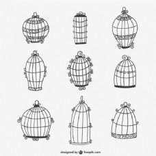 书法的鸟笼