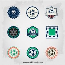 优雅的足球徽章