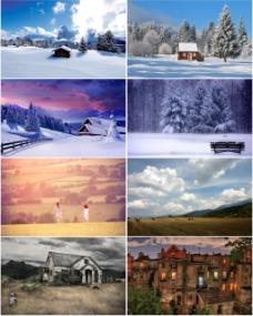 冬天风景背景
