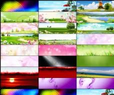 25款天猫夏季清新广告背景图片素材