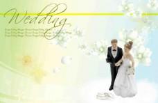婚禮婚卡高清背景設計